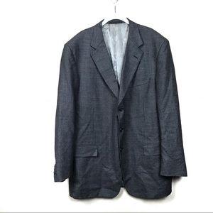 Vintage monsieur givenchy Gray silk wool blazer